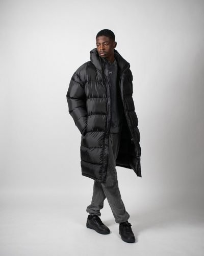 Trust Long Black Puffer Jacket