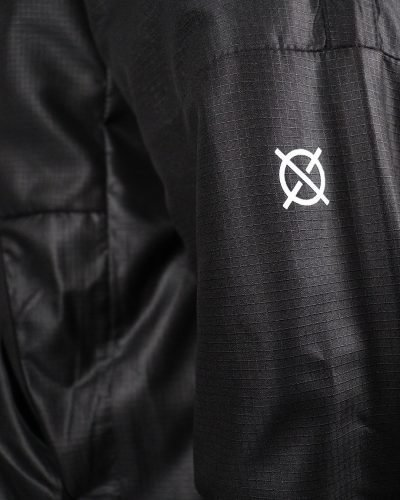 detail windjacket black logo absence TRUST Amsterdam